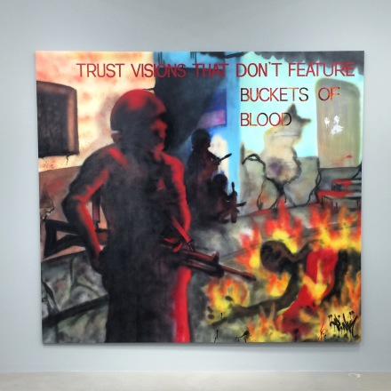Jenny Holzer/Lady Pink, Trust visions that don't feature buckets of blood (1983-84), via Art Observed