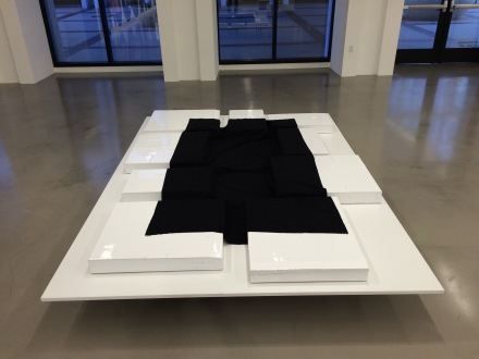 Rosemarie Trockel, Landscapian shroud of my mother (2008), via Art Observed
