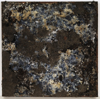 Rauschenberg dirt painting, via Creators Project