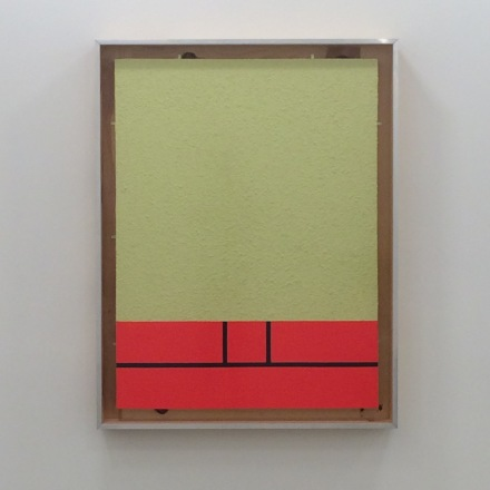 Peter Halley, Yellow Cell with Conduit (1982), via Art Observed