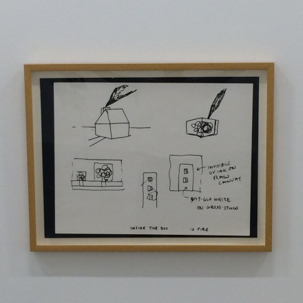 Peter Halley, Inside the Box is Fire (1981), via Art Observed