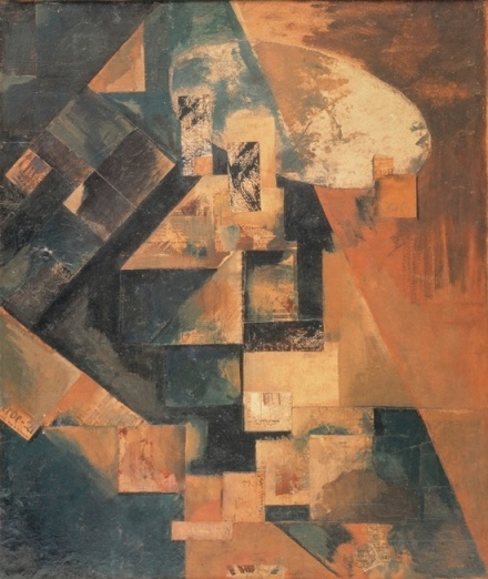 Kurt Schwitters, Merzbild 1B Bild mit rotem Kreuz (Merzpicture 1 B Picture with Red Cross) (1919), via Hauser and Wirth