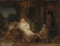 Abraham Entertaining the Angels, via NYT