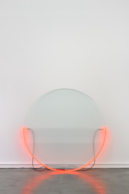 Keith Sonnier, Lit Circle Red with Flutex (1968)