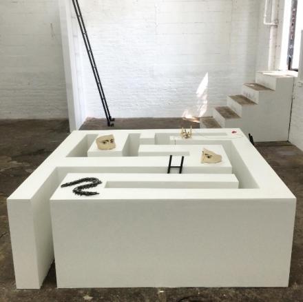 Aidan Koch, Iris (Installation View), via Art Observed