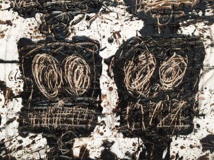 Rashid Johnson, Untitled Anxious Audience (detail) (2016), via Art Observed