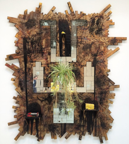 Rashid Johnson, Falling Man (2015), via Art Observed