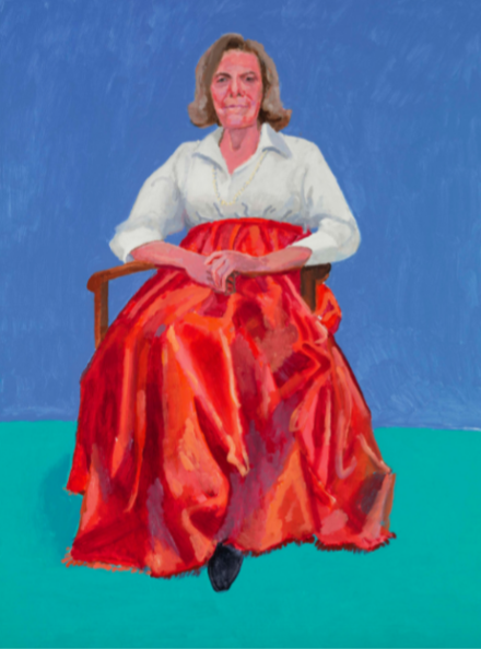David Hockney, Rita Pynoos, 1st, 2nd March (2014)