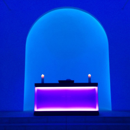 James Turrell at Dorotheenstadt Chapel (Installation View), via Art Observed