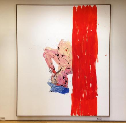 Georg Baselitz, Orangenesser (Remix) (2005), via Art Observed