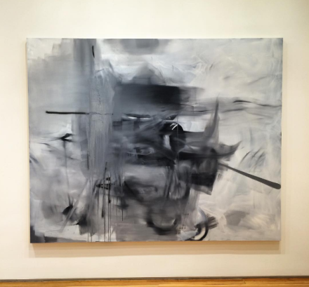 A 'Grey Painting' by Albert Oehlen, via Art Observed