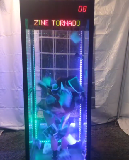 Peter Sutherland and Maia Ruth Lee's Zine Tornado, via Art Observed