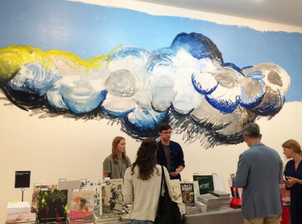 The David Zwirner Booth, with art by Oscar Murillo and Yutaka Sone, via Art Observed