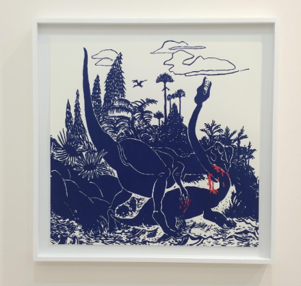 Shio Kusaka's prints at Karma, via Art Observed
