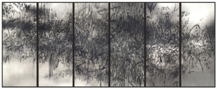 Julie Mehretu, Epigraph, Damascus (2016), via Carlier Gebauer