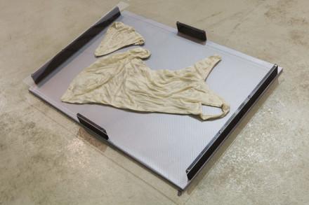 Jimmie Durham, Discarded Underwear of the Venus Medici (2013), via kurimanzutto