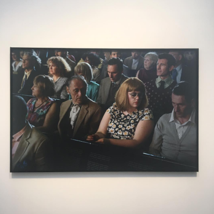 Alex Prager, Orchestra East (Section B) (2016), via Art Observed