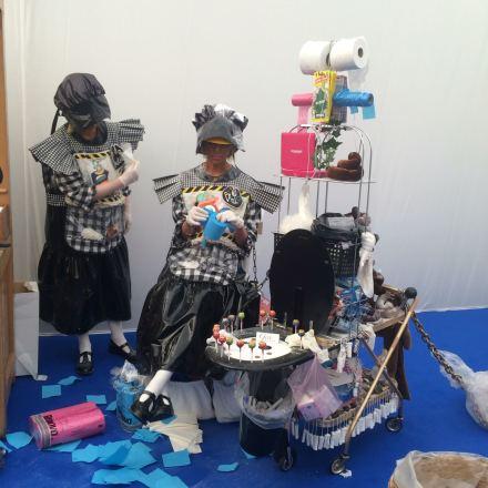 Julie Verhoeven's Bathroom performance, via Art Observed