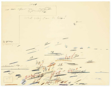 Cy Twombly, Untitled (1972), via Christie's