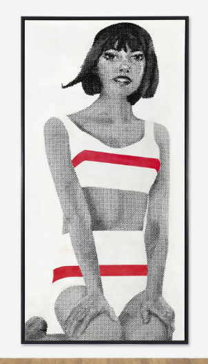 Gerald Laing, Beach Wear (1964), via Christie's