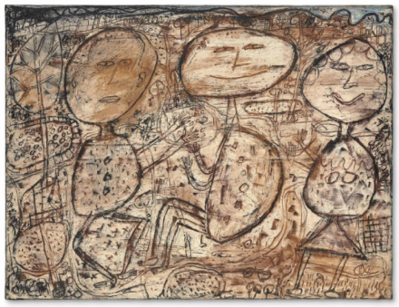 Jean Dubuffet, La Vie Agreste (The Rural Life) (1949), via Christie's