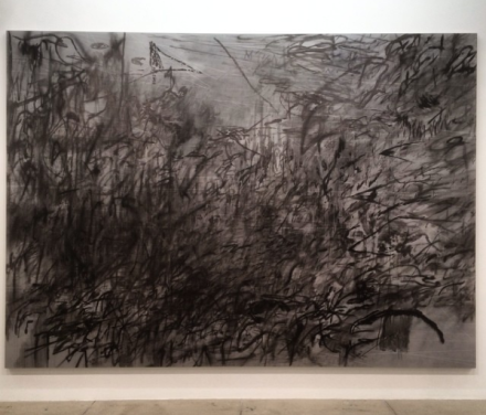 Julie Mehretu, Invisible Sun (algorithim 7,spell form) (2015), via Art Observed