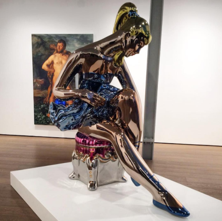 Jeff Koons, Seated Ballerina (2010-2015), via Art Observed