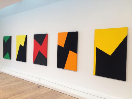 Carmen Herrera, Lines of Sight (Installation View), via Art Observed