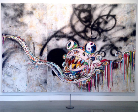 Takashi Murakami, 727 (to be determined) (2016), via Art Observed