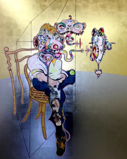 Takashi Murakami, Homage to Francis Bacon (2016), via Art Observed