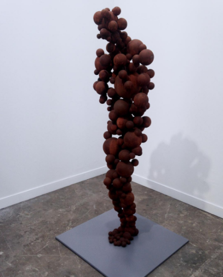 Antony Gormley, Standing Matter XXXVII (2011) at Xavier Hufkens, via Art Observed