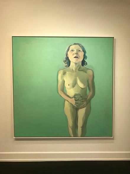 Maria Lassing, Selbstporträt mi Gurkenglas (1971)