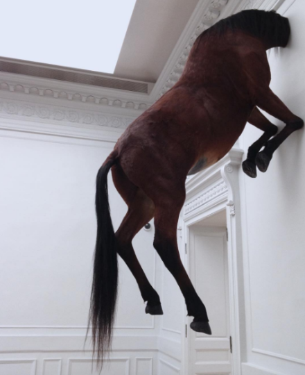 Maurizio Cattelan, Untitled (2007), via Art Observed