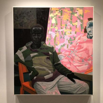 Kerry James Marshall, Untitled (Painter) (2010), via Art Observed