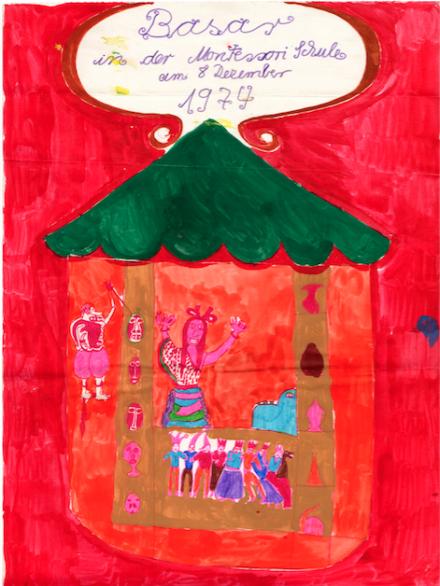 Kai Althoff, Untitled, (Poster for a School Bazaar) (1974), via MoMA