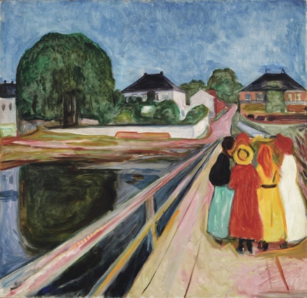 Edvard Munch, Girls on the Bridge (1902), via Sotheby's
