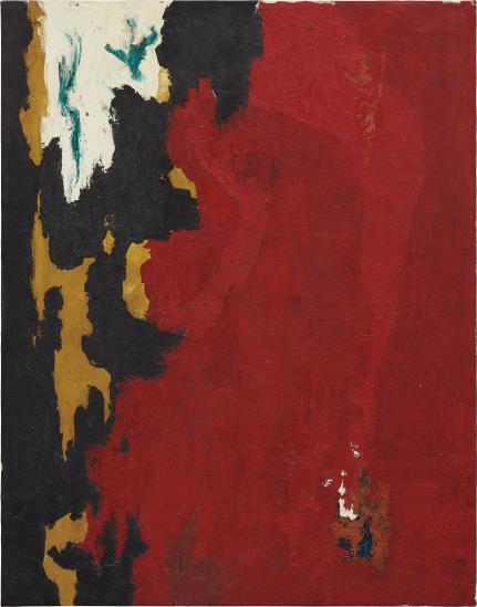 Clyfford Still, Untitled (1948), via Phillips