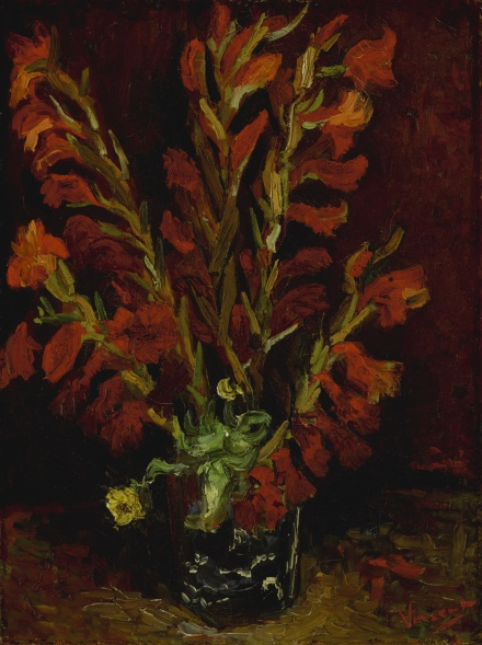 Vincent Van Gogh,  Nature morte vase aux glaïeuls (1886), via Sotheby's