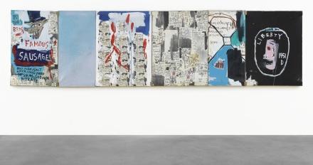 Jean-Michel Basquiat, Brother's Sausage (1983), final price $18,800,000, via Christie's