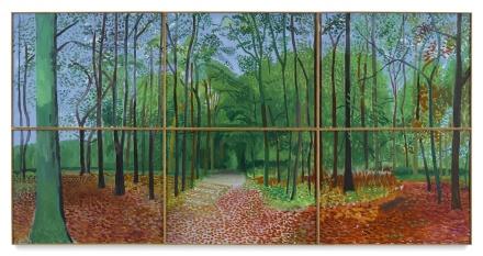 DAvid Hockney, Woldgate Woods 24, 25,26, October 2006 (2006), via Sotheby's
