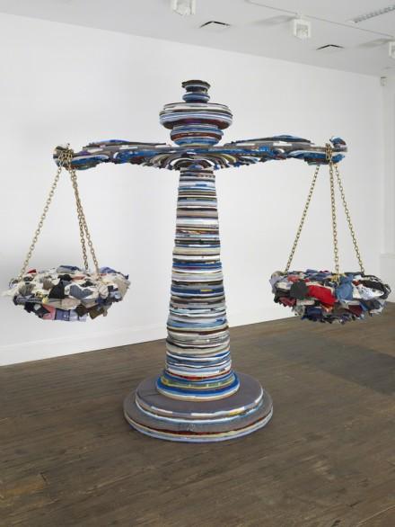 Nari Ward, Blank Scale (2012), via Lehmann Maupin