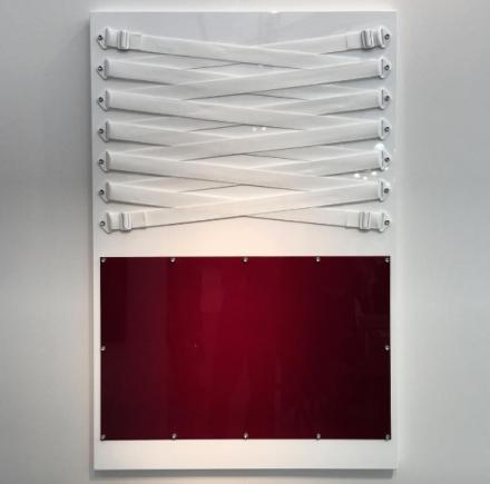 Joshua Sanders at Steve Turner for Untitled Art Fair, via Art Observed