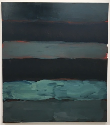 Sean Scully, Landline Darkness (2015), via Art Observed