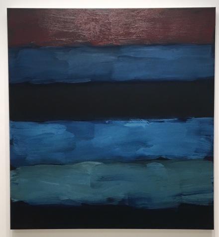 Sean Scully, Landline Blue Veined (2016), via Art Observed