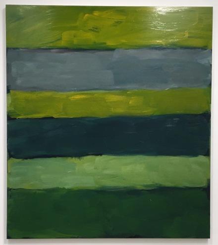 Sean Scully, Landline Green Green (2015), via Art Observed