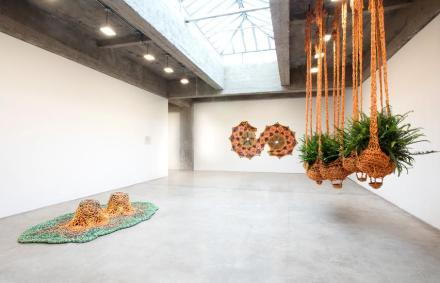 Ernesto Neto, The Serpent's Energy Gave Birth To Humanity (Installation View), via Tanya Bonakdar