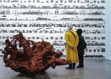 Ai Weiwei, Roots and Branches at Lisson (Installation View), via Art Observed