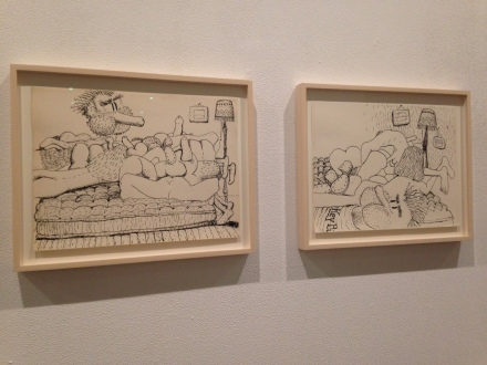 Philip Guston, Laughter in the Dark (Installation View)