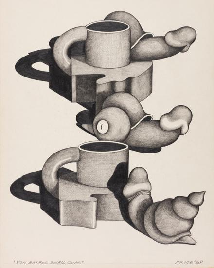 Ken Price, Von Bayros Snail Cups (1968)