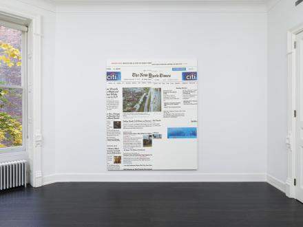 Wade Guyton, The New York Times Paintings (Installation View), via Petzel